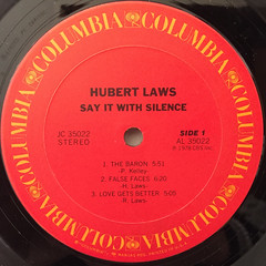 HUBERT LAWS:SAY IT WITH SILENCE(LABEL SIDE-A)
