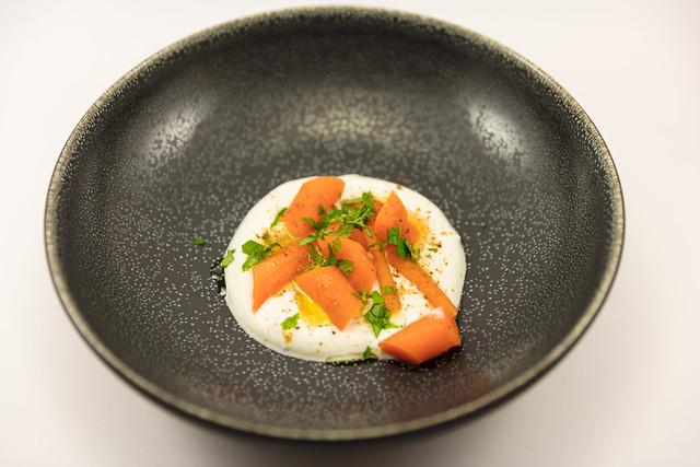 Warm Carrot Salad with Yogurt