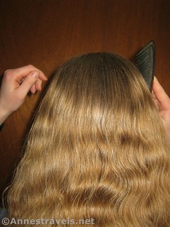 Comb all the hair back for a ponytail - 12 pretty & practical hiking hairstyles