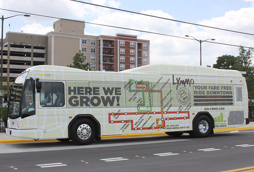 Lymmo Bus Wrap Design, Orlando