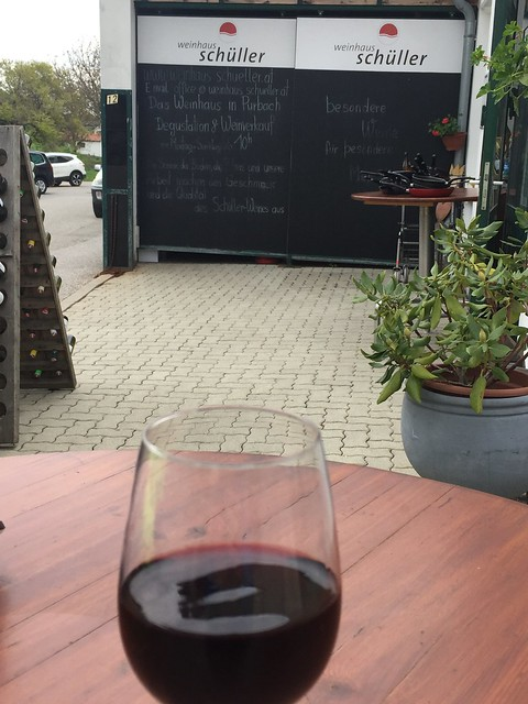 Blaufränkisch Achterl im Weinhaus Schüller Kirschblütenradweg - Purbach - Burgenland - Neusiedlersee