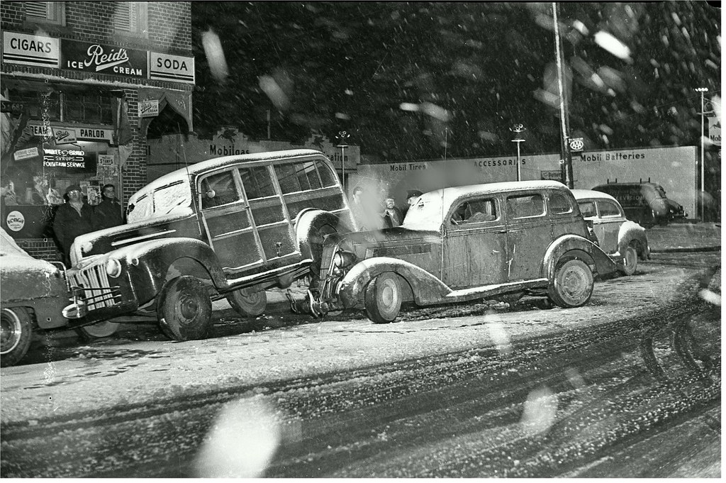 Woodie Station Wagon in Car Crash Accident 1940s. | Here\'s a… | Flickr
