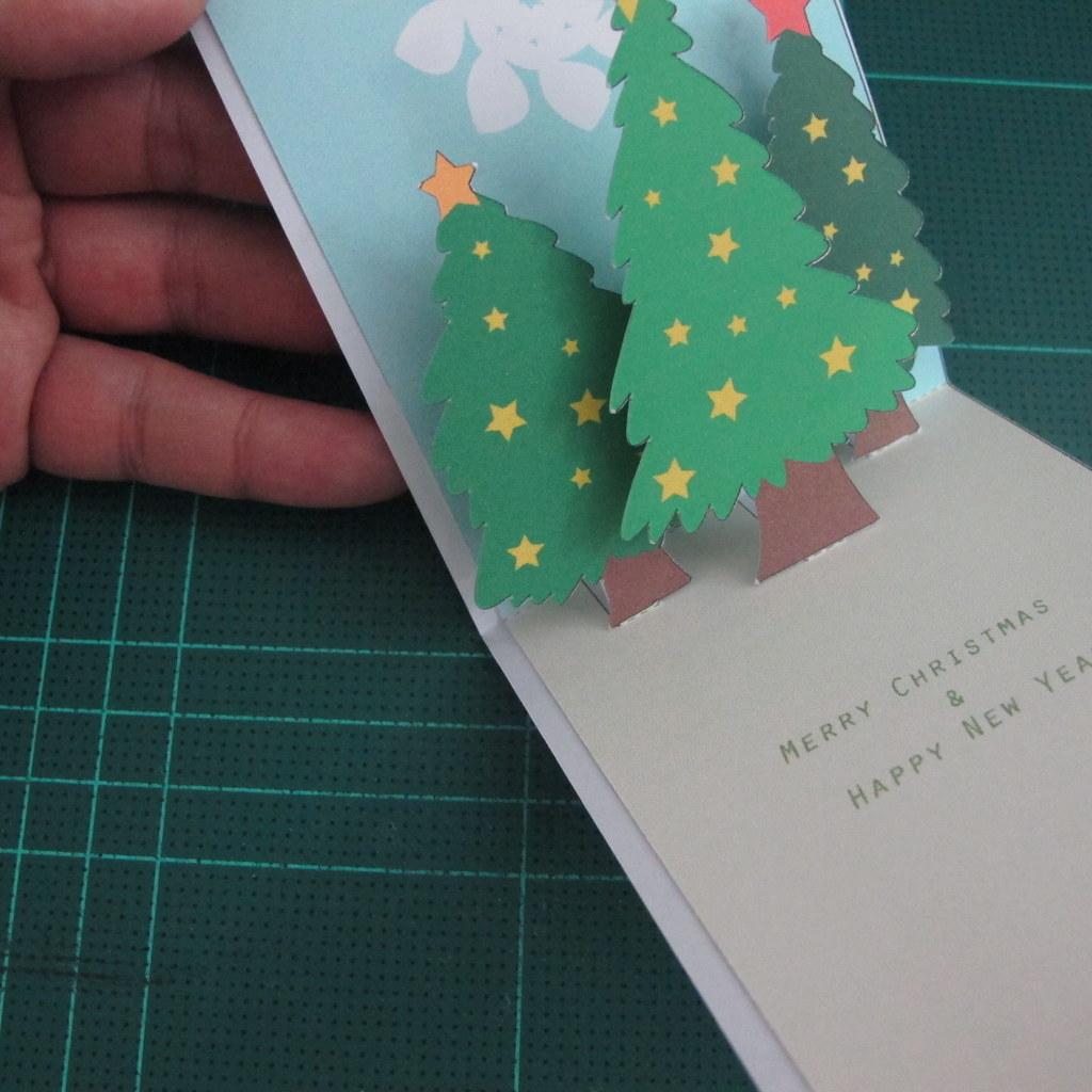 การทำการ ดอวยพรลายต นคร สต มาสแบบป อปอ ป Card Making Chri Flickr