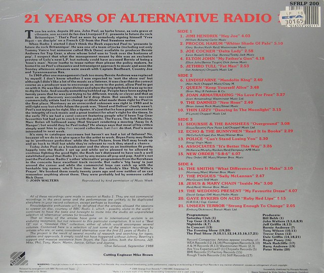 21 Years of Alternative Radio 1 Strange Fruit BBC Live Recordings John Peel