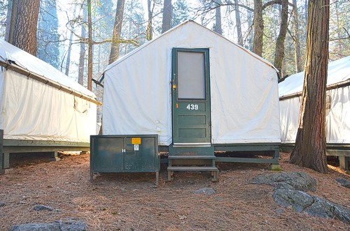 Camp Curry Platform Tent - some have heaters