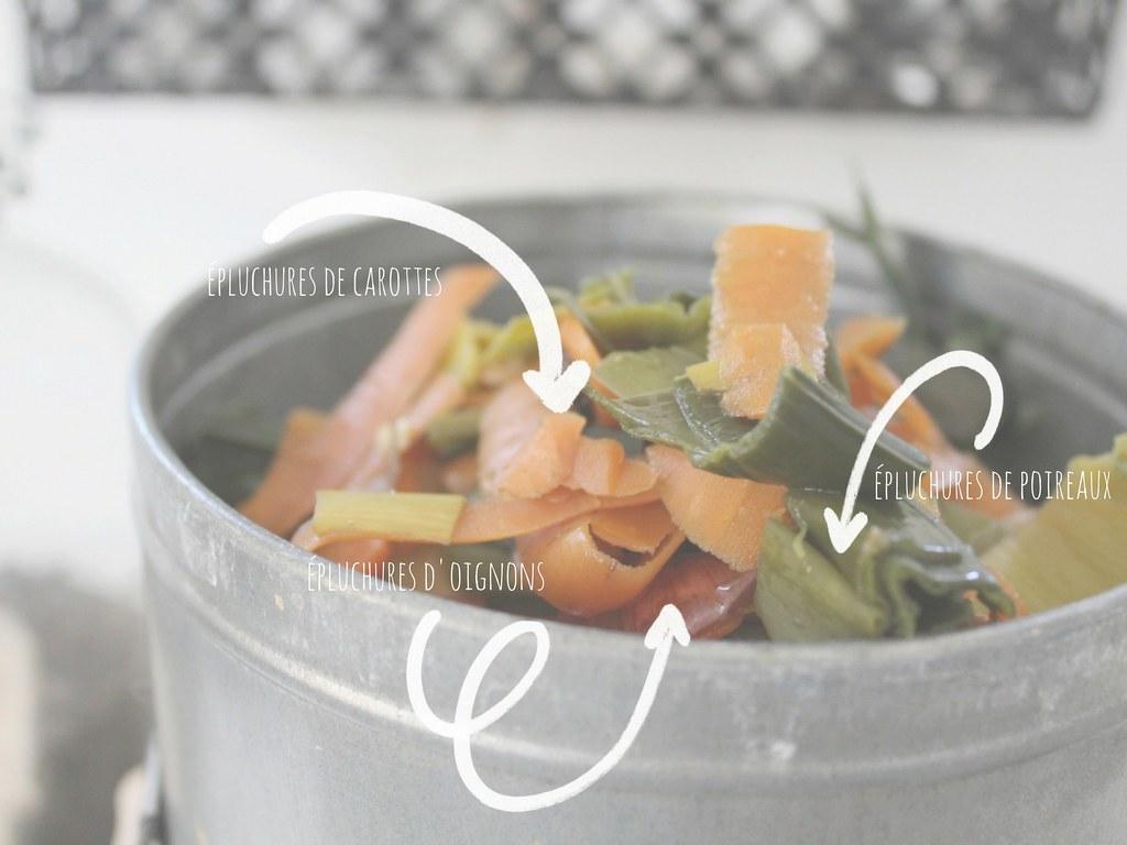 épluchures de carottes