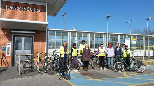 Start of ride photo by Leon. (Hassocks Station).