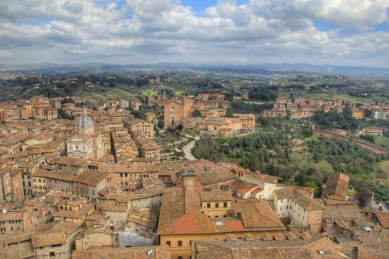 View from the top of Torre di Mangia, Siena