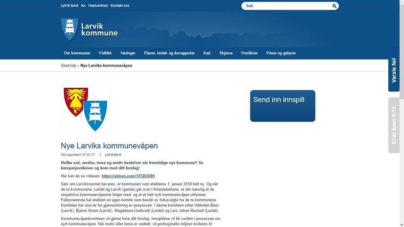 larvik og lardal ny kommune
