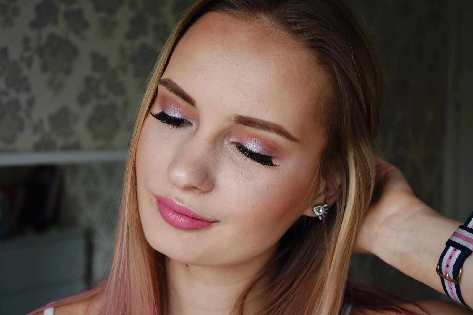 Spring halo eye shadow