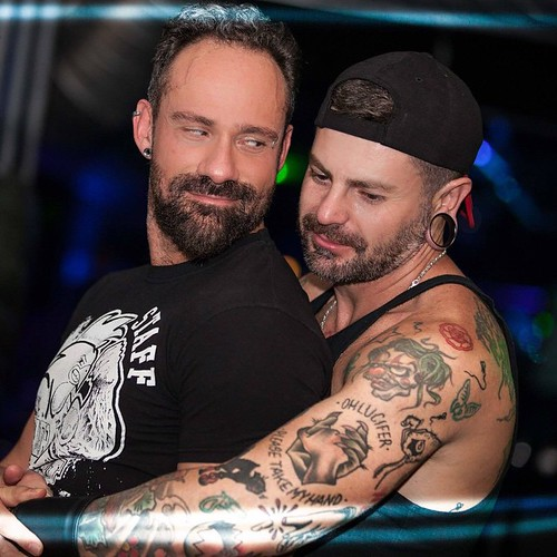 image Gay bear tattooed guy fucking partner