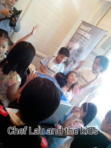 Chef Lau and the Kids during Samsung DA cooking demo | by greenbucks