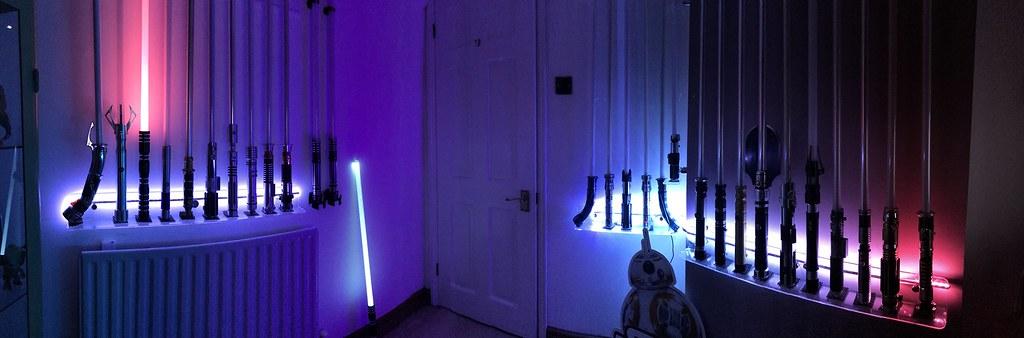star wars lightsaber collection includes force fx saberf flickr