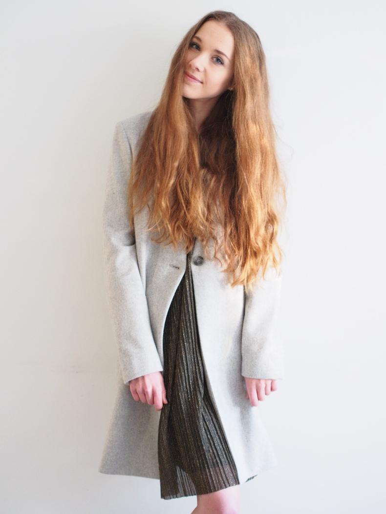 grey samsoe & samsoe woollen coat