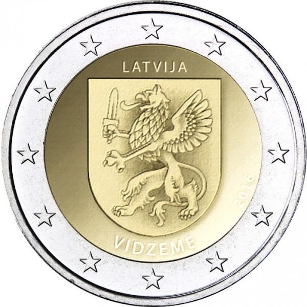 2 Euro Lotyšsko 2016, Vidzeme
