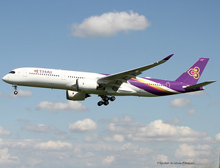 Thai Airways International. FIRST FLIGHT TEST AIRBUS A350-941.