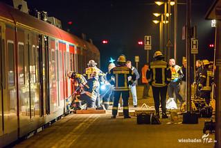 Bahnunfall Bahnhof Wiesbaden-Ost 07.04.17