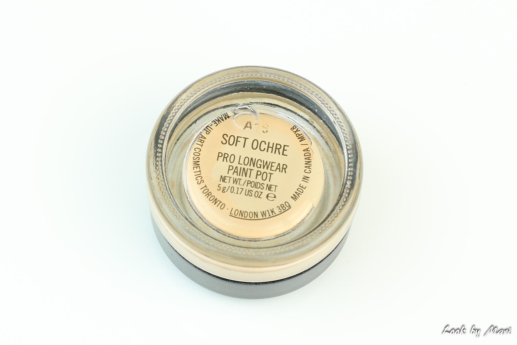 6 Mac pro long wear paint pot sävy soft ochre kokemuksia väri suomi kuinka käyttää pohjustus