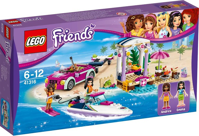 LEGO Friends Estate 2017 - Andrea's Speedboat Transporter (41316)