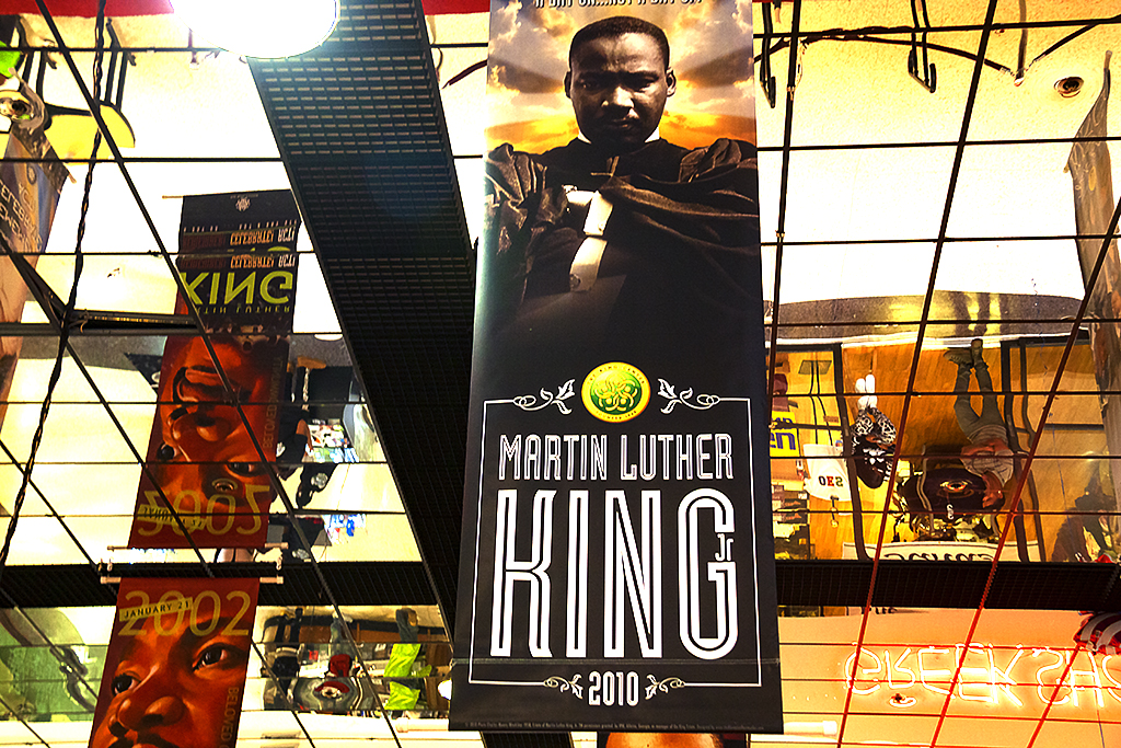 Martin Luther King images at The Mall West End--Atlanta