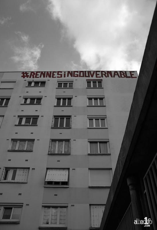 [05 Avril 2017] – Un jour, une photo… Après la rebelle, Rennes l'ingouvernable par le tagueur fou