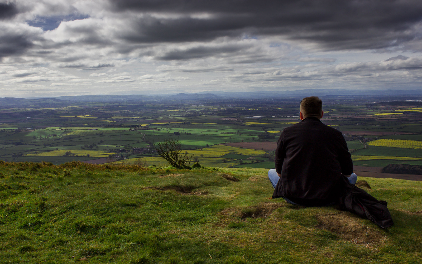 The view over Shropshire from the top of the Wrekin