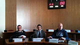 Da sinistra, il Comandate Eramo, il dott. Francavilla e il sindaco Cessa