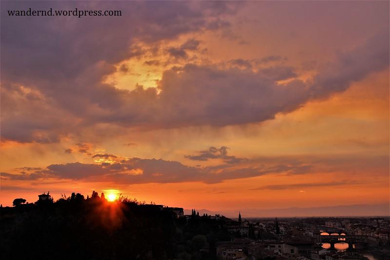 Sonnenuntergang über Florenz