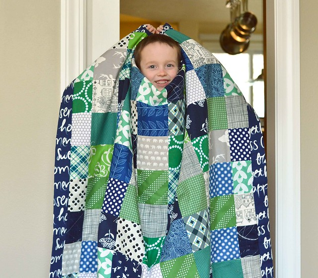 Blue and Green Picnic Quilt