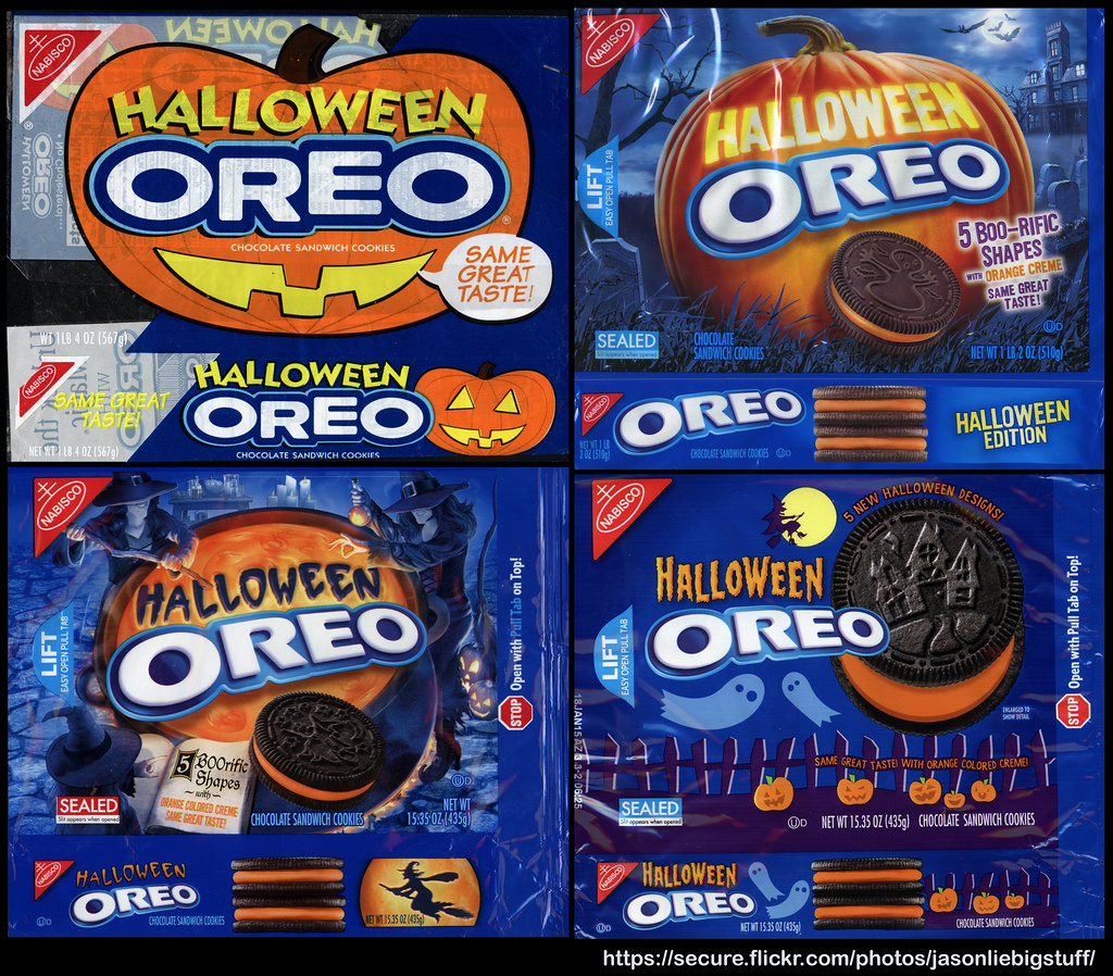 Halloween Oreos over the years | Here are the four different… | Flickr