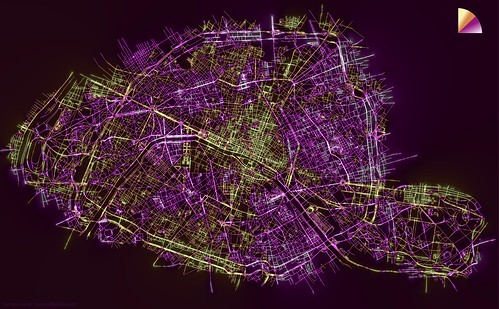 Streets of Paris colored by Orientation | by mathieu rajerison