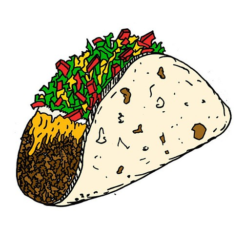 Taco. 2013. Sharpie And Digital. #art #artprint #taco #mex