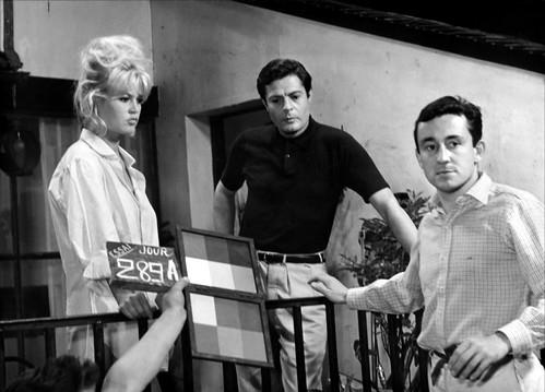 Vie Privée - backstage 2 - Brigitte Bardot, Marcello Mastroianni, Louis Malle