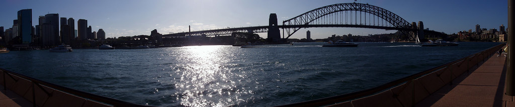 the Sydney Harbour Bridge late afternoon
