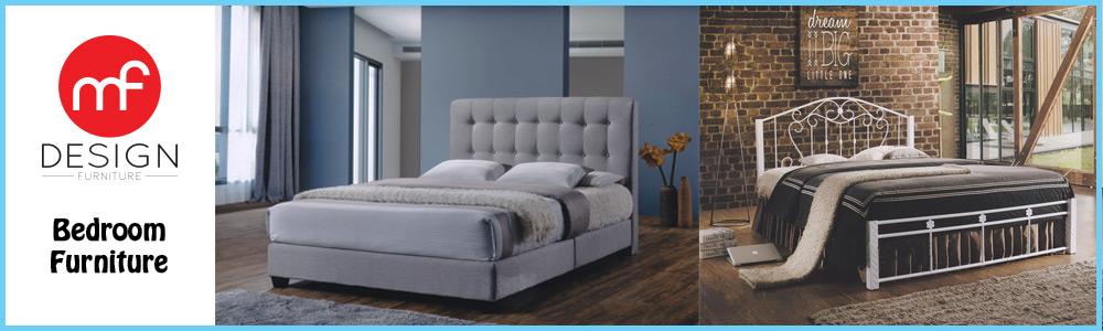 Mf design black knight queen size divan bed lazada malaysia for Queen size divan