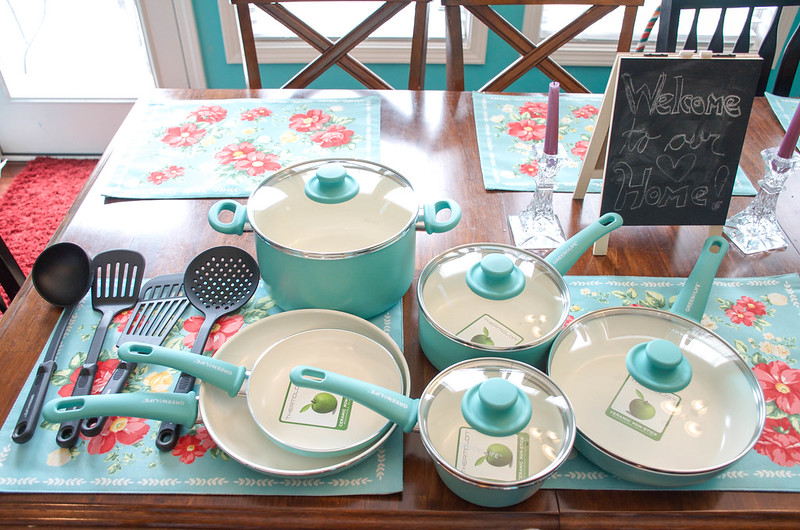 Unboxing My New GreenLife Soft Grip 14pc Ceramic Non-Stick Cookware Set, Turquoise