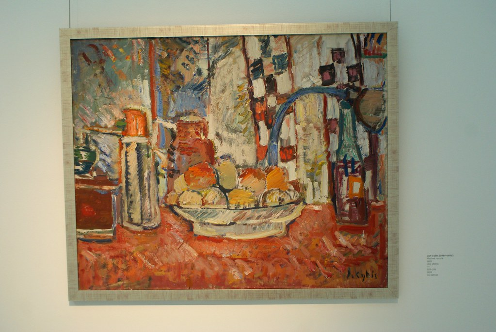 "Jan Cybis ""Martwa natura"" (1958) au Musée national d'art moderne de Wroclaw en Pologne."