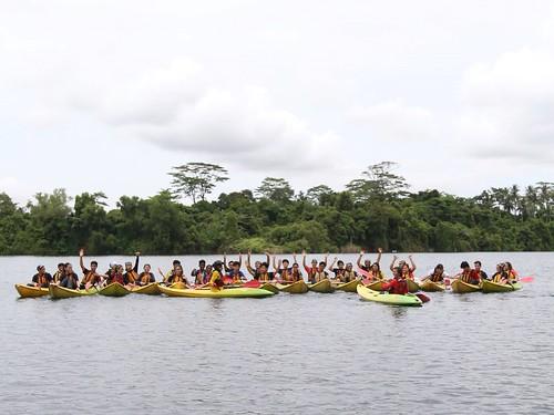 Ubin Quarry kayaking with Republic Polytechnic