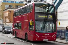 Alexander Dennis Trident Enviro 400 - LJ59 ABU - T77 - Arriva - Tower Bridge London - 140926 - Steven Gray - IMG_0056