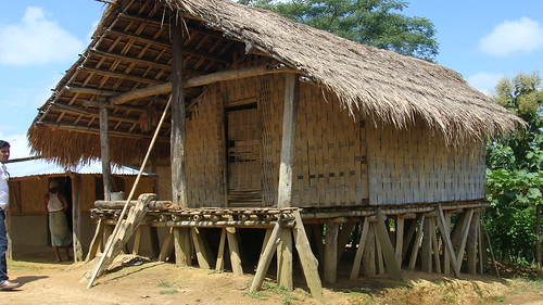Traditional Riang House Made From Bamboo In Tripura Flickr