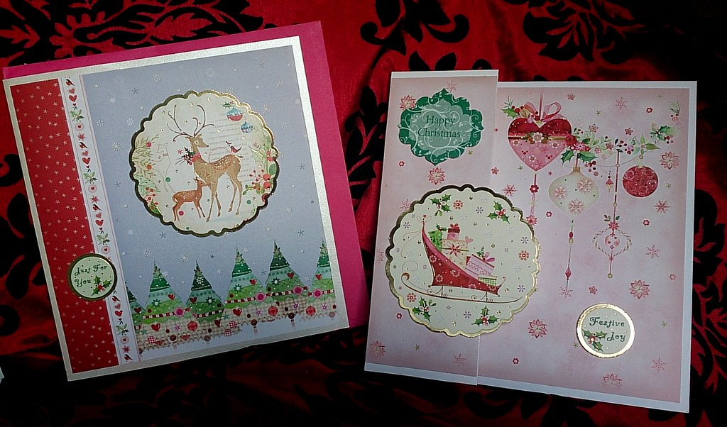 Hunkydory Christmas cards 2014 | Two lovely cards using the … | Flickr
