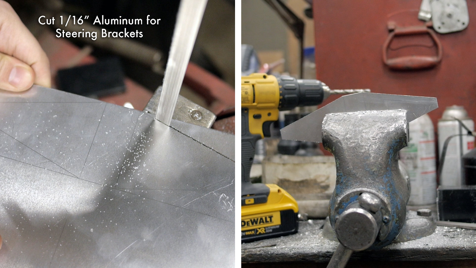 Cut Aluminum for Steering Brackets