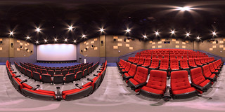 Advertising & marketing photography - 360 degrees virtual tour of movie theatre