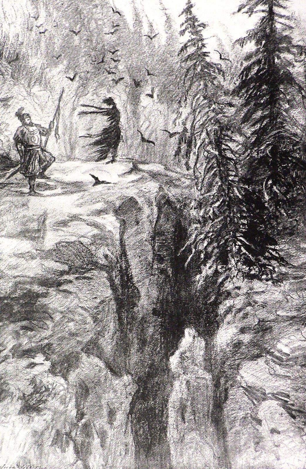 "Jaroslav Panuska - Illustration (4) for Vaclav Riha's ""Tale Of Three Wonderful Friends,"" 1900"