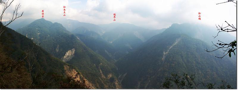 朗吾呂山東南眺群山 1-1