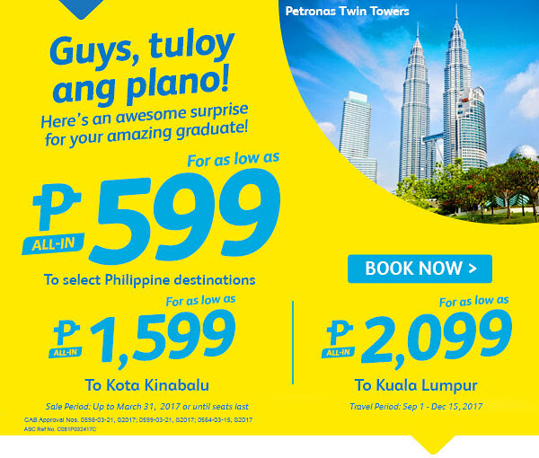 Cebu Pacific Air Promo Awesome Surprise for Amazing Graduates