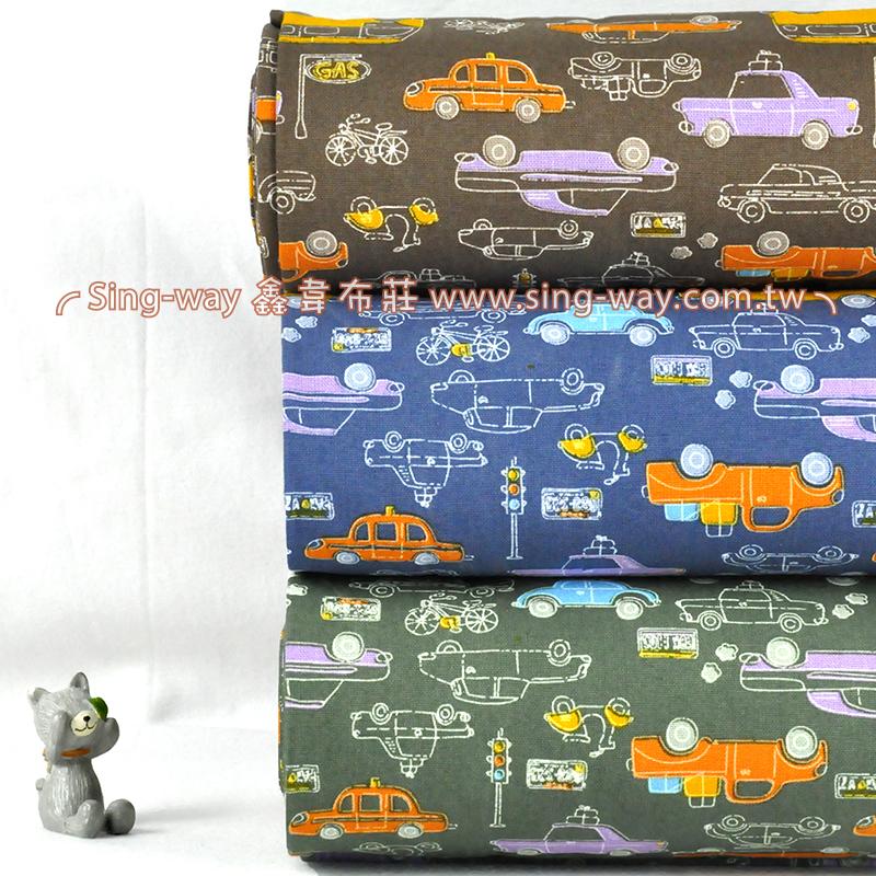 多類汽車 可愛交通工具 手工藝DIy拼布布料 CF550564