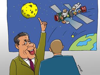 Карикатура про Роскосмос
