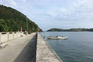 Sibale island - Poblacion sea wall south