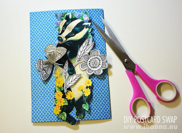 Happy Mail: Oh my, you smell lovely, postcard collage by iHanna #diypostcardswap